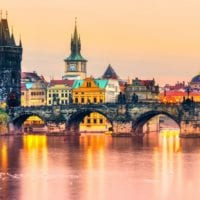 48905172 - charles bridge and old town in prague, czech republic