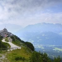 5813947 - eagles nest in the bavarian alps near berchtesgaden in germany