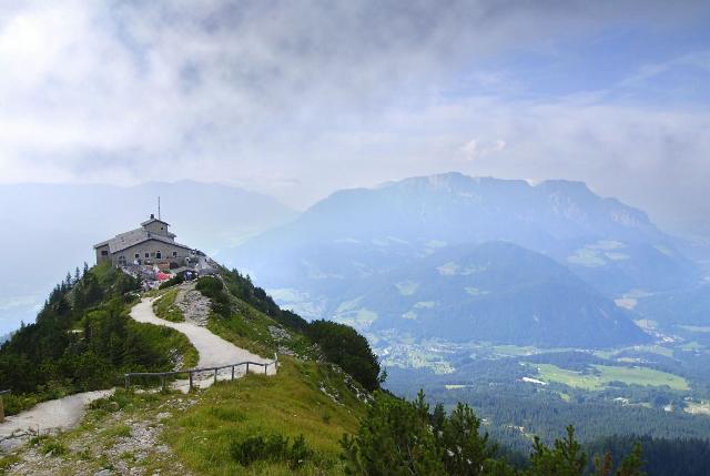 5813947 - eagles nest in the bavarian alps near berchtesgaden in germany