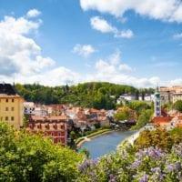 36594631 - beautiful view to tower  of cesky krumlov, czech republic