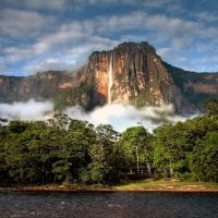 33348098 - angel falls - the highest waterfall on earth - in morning light