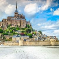 69976072 - beautiful mont saint michel cathedral on the island, normandy, northern france, europe