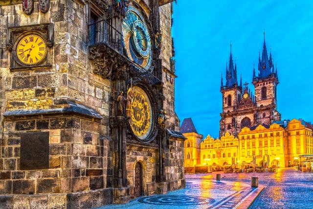 50099614 - prague, tyn church and old town square. czech republic